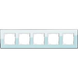 Рамка 5-постовая Gira Esprit салатовое стекло С 0215518