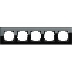 Рамка 5-постовая Gira Esprit черное стекло 021505