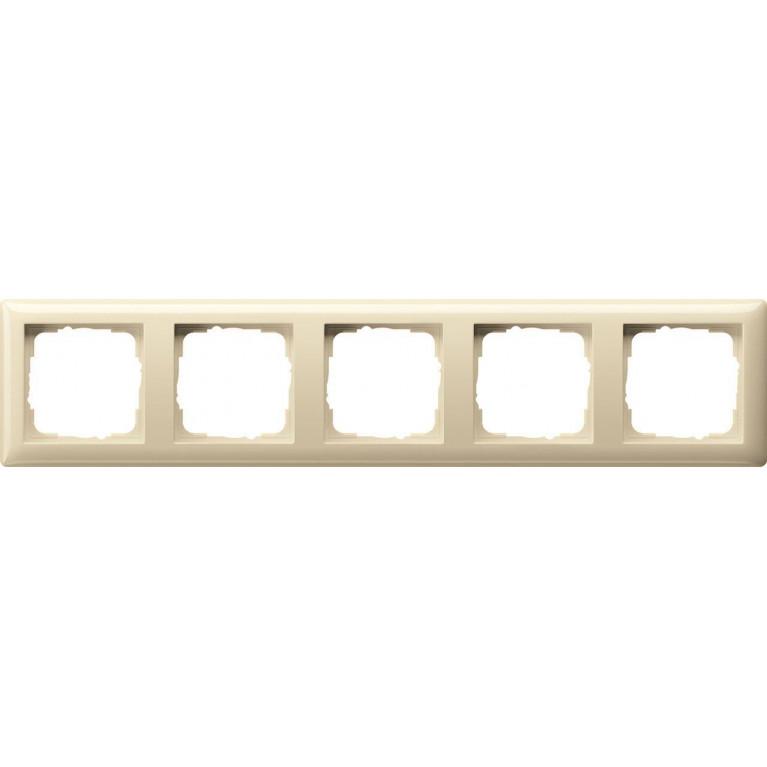 Рамка 5-постовая Gira Standard 55 кремовый глянцевый 021501
