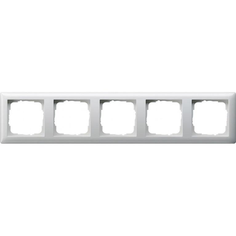 Рамка 5-постовая Gira Standard 55 чисто-белый глянцевый 021503