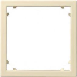 Рамка адаптерная Gira System 55 для устройств с накладкой 45х45мм кремовый глянцевый 028301