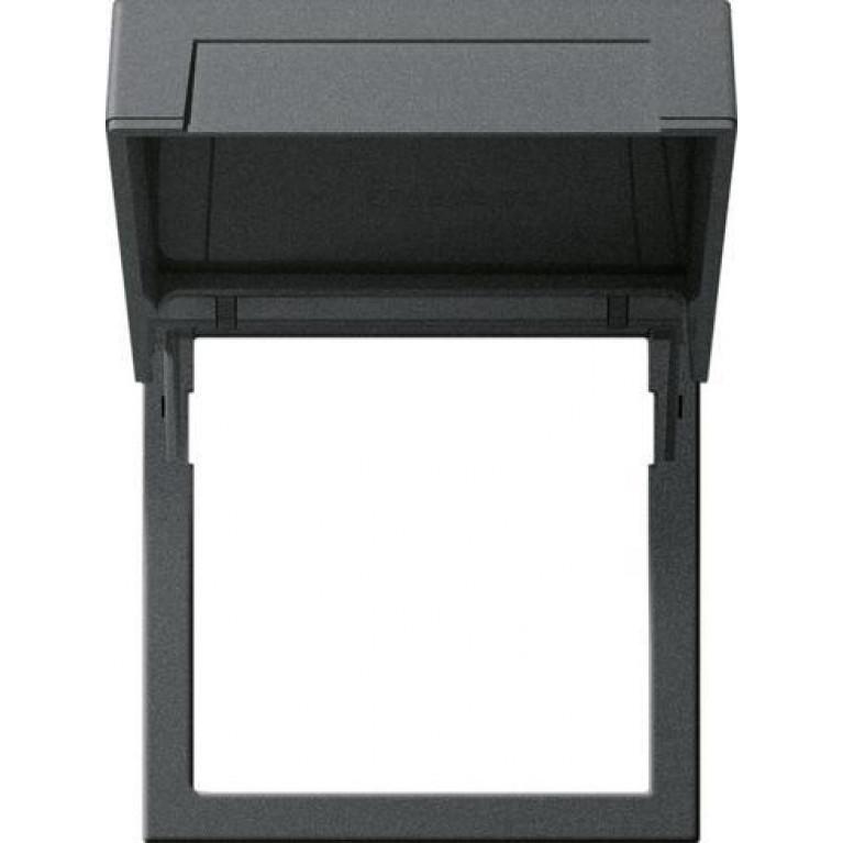 Рамка монтажная Gira System 55 с откидной крышкой антрацит 265828