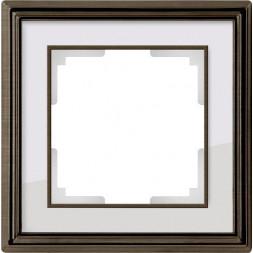 Рамка Palacio на 1 пост бронза/белый WL17-Frame-01 469038910355