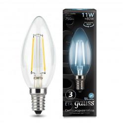 Лампа светодиодная филаментная E14 11W 4100К прозрачная 103801211