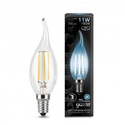 Лампа светодиодная филаментная E14 11W 4100К прозрачная 104801211