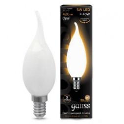 Лампа светодиодная филаментная E14 5W 2700К матовая 104201105