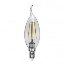 Лампа светодиодная филаментная E14 5W 3000K прозрачная LED-CW35-5W/WW/E14/CL/MB GLM10TR
