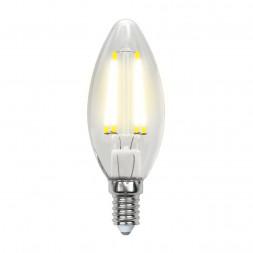 Лампа светодиодная филаментная E14 5W 3000K прозрачная LED-C35-5W/WW/E14/CL/MB GLM10TR