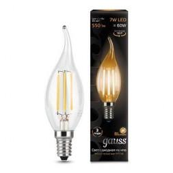 Лампа светодиодная филаментная E14 7W 2700К прозрачная 104801107