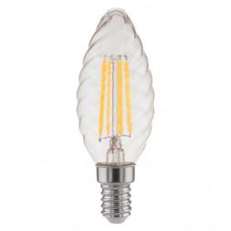 Лампа светодиодная филаментная Elektrostandard E14 7W 3300K прозрачная 4690389125270