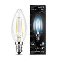 Лампа светодиодная филаментная E14 7W 4100К прозрачная 103801207