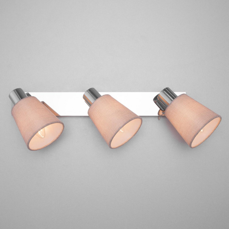 Настенный светильник Eurosvet 20080/3 хром/бежевый