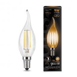 Лампа светодиодная филаментная E14 9W 2700К прозрачная 104801109