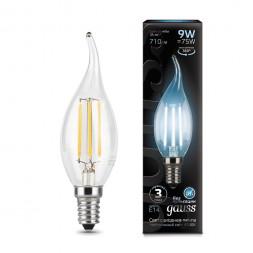 Лампа светодиодная филаментная E14 9W 4100К прозрачная 104801209