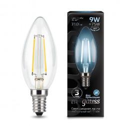 Лампа светодиодная филаментная E14 9W 4100К прозрачная 103801209