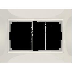 Рамка Snabb для двойной розетки слоновая кость basic WL03-Frame-01-DBL-ivory 4690389116995