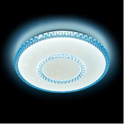 Потолочный светодиодный светильник Ambrella light Orbital Crystal F99 BL 96W D500