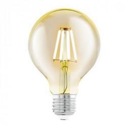 Лампа светодиодная филаментная Eglo E27 4W 2200К янтарь 11556