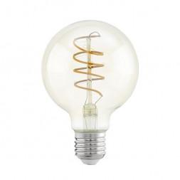 Лампа светодиодная филаментная Eglo E27 4W 2200К янтарь 11722