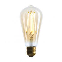 Лампа светодиодная филаментная E27 4W 2200K золотая 057-141