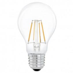 Лампа светодиодная филаментная Eglo E27 4W 2700К прозрачная 11491