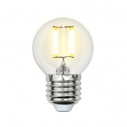 Лампа светодиодная филаментная E27 5W 3000K прозрачная LED-G45-5W/WW/E27/CL/MB GLM10TR