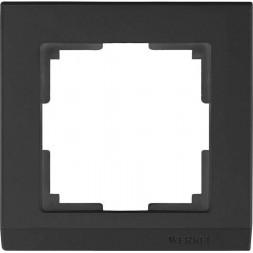 Рамка Stark на 1 пост черный WL04-Frame-01-silver/black 4690389048838