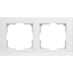 Рамка Stark на 2 поста белый WL04-Frame-02-white 4690389047114
