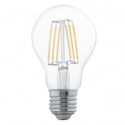 Лампа светодиодная филаментная Eglo E27 6W 2700К прозрачная 11501