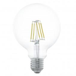 Лампа светодиодная филаментная Eglo E27 6W 2700К прозрачная 11503