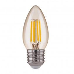 Лампа светодиодная филаментная E27 7W 4200K прозрачная 4690389125263