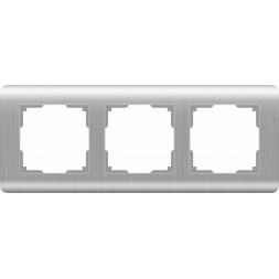 Рамка Stream на 3 поста серебряный WL12-Frame-03 4690389076381