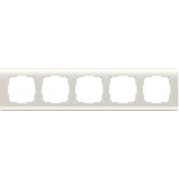 Рамка Stream на 5 постов перламутровый WL12-Frame-05 4690389123047
