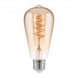 Лампа светодиодная филаментная диммируемая Elektrostandard BL160 E27 5W 2700K золотая 4690389073656