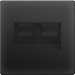Розетка двойная Ethernet RJ-45 черный матовый WL08-RJ45+RJ45 4690389073564