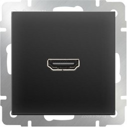 Розетка HDMI черная матовая WL08-60-11 4690389097522