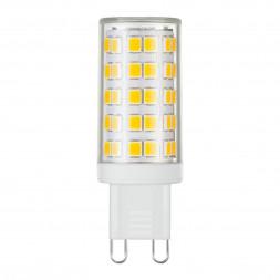 Лампа светодиодная G9 9W 3300K прозрачная 4690389113000