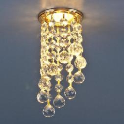 Встраиваемый светильник Elektrostandard 205C C GD/WH золото/прозрачный 4690389057588