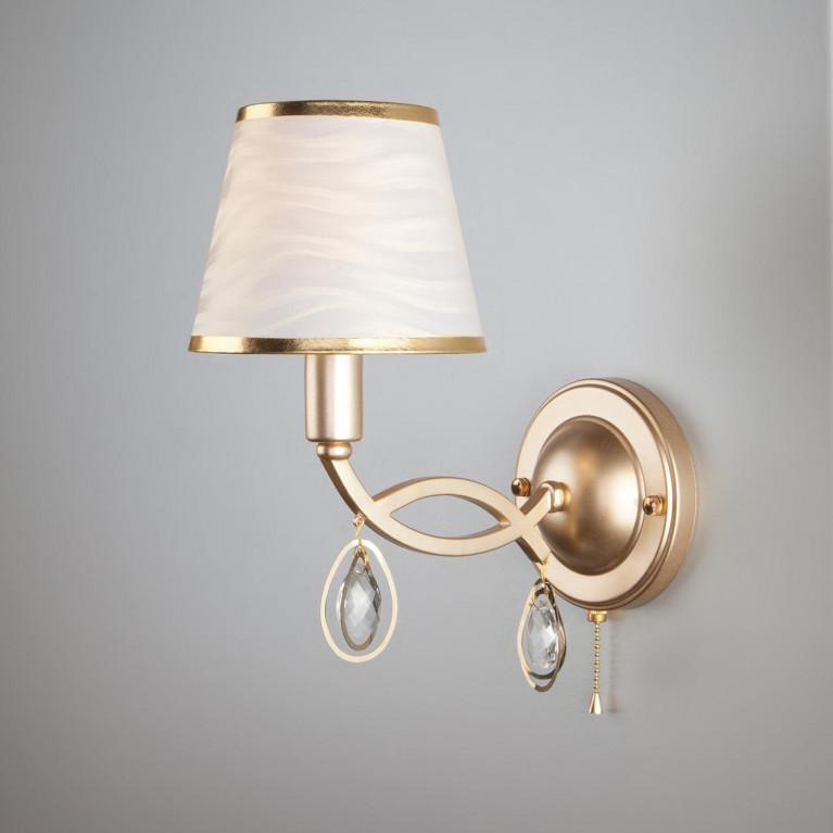 Настенный светильник Eurosvet 60091/1 перламутровое золото