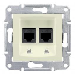 Розетка компьютерная 2хRJ45 Schneider Electric Sedna UTP SDN4400147