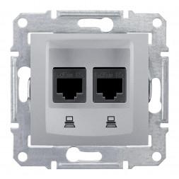 Розетка компьютерная 2хRJ45 Schneider Electric Sedna UTP SDN4400160