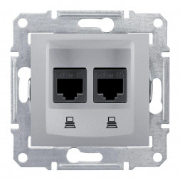 Розетка компьютерная 2хRJ45 Schneider Electric Sedna UTP SDN4800160