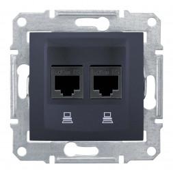 Розетка компьютерная 2хRJ45 Schneider Electric Sedna UTP SDN4800170