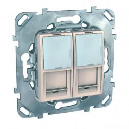 Розетка компьютерная 2хRJ45 Schneider Electric Unica MGU5.2424.25ZD