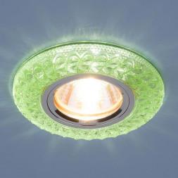 Встраиваемый светильник Elektrostandard 2180 MR16 GR зеленый 4690389075490
