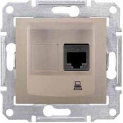 Розетка компьютерная RJ45 Schneider Electric Sedna UTP SDN4300168