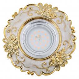 Встраиваемый светильник Fametto Arno DLS-A105 GU5.3 Chrome/Beige+Gold