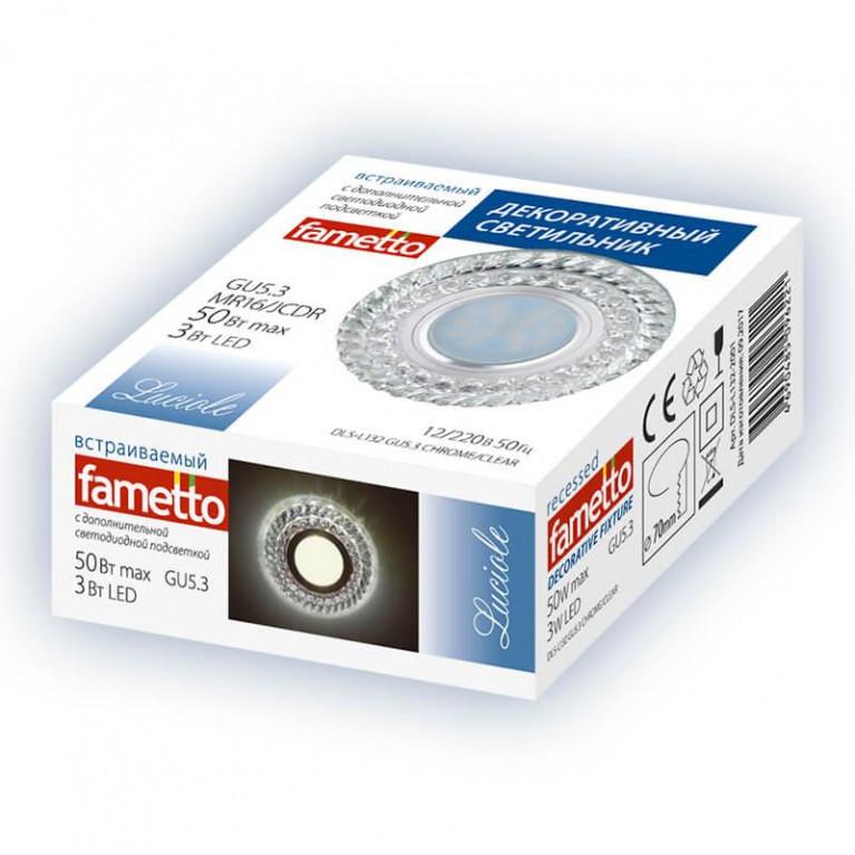 Встраиваемый светильник Fametto Luciole DLS-L132 GU5.3 Chrome/Clear