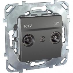 Розетка R-TV/SAT проходная Schneider Electric Unica MGU5.456.12ZD