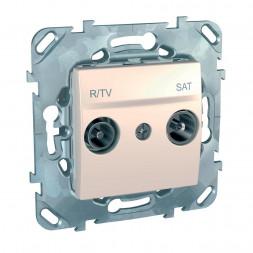 Розетка R-TV/SAT проходная Schneider Electric Unica MGU5.456.25ZD